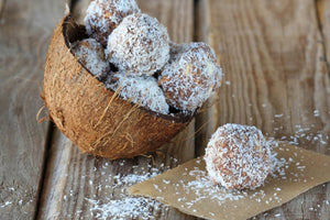 Coconut brain balls recipe with Waimarino Organic Virgin Coconut Oil