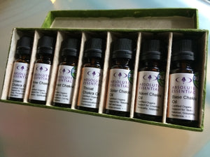 Absolute Essential Chakra Oils Box Set (7 x 10ml)