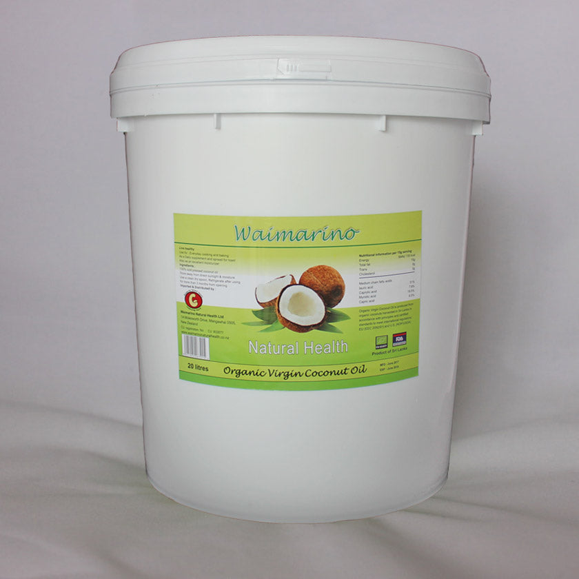 Coconut oil 20 litres - Waimarino Natural Health 20 litre organic virgin coconut oil