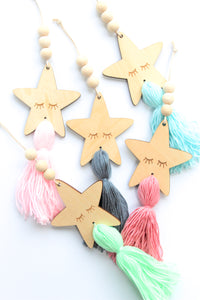 Decorative Wooden Stars (various colours)