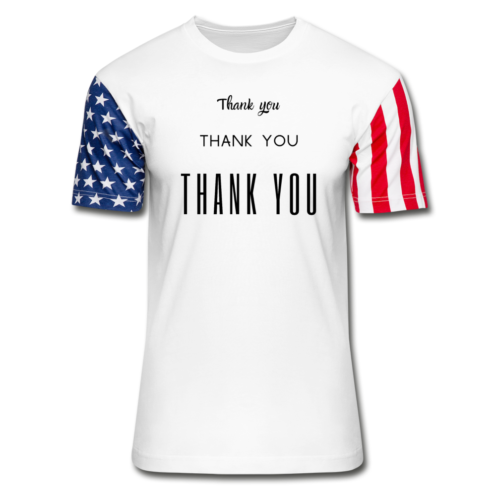 Stars & Stripes Thank you T-Shirt - white
