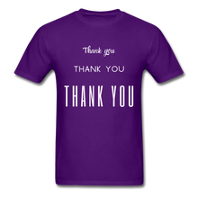 Load image into Gallery viewer, Thank you, X3 Appreciation Cotton T-Shirt - purple