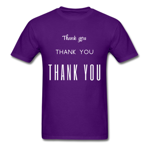 Thank you, X3 Appreciation Cotton T-Shirt - purple