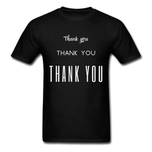 Load image into Gallery viewer, Thank you, X3 Appreciation Cotton T-Shirt - black