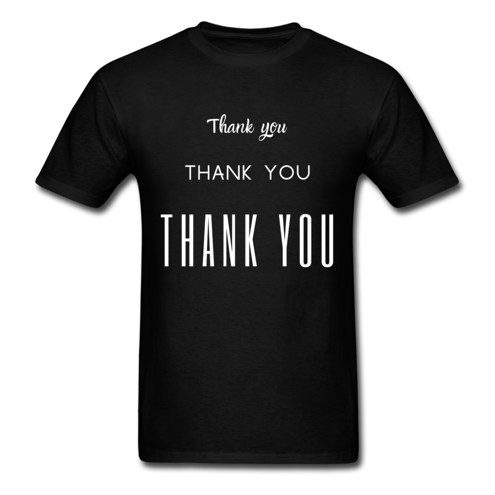 Thank you, X3 Appreciation Cotton T-Shirt - black