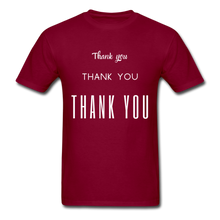Load image into Gallery viewer, Thank you, X3 Appreciation Cotton T-Shirt - burgundy