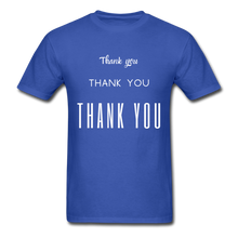 Load image into Gallery viewer, Thank you, X3 Appreciation Cotton T-Shirt - royal blue