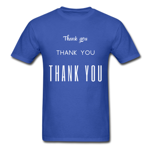 Thank you, X3 Appreciation Cotton T-Shirt - royal blue
