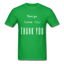 Load image into Gallery viewer, Thank you, X3 Appreciation Cotton T-Shirt - bright green