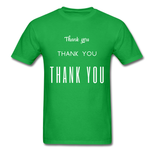 Thank you, X3 Appreciation Cotton T-Shirt - bright green