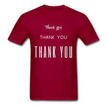 Load image into Gallery viewer, Thank you, X3 Appreciation Cotton T-Shirt - dark red