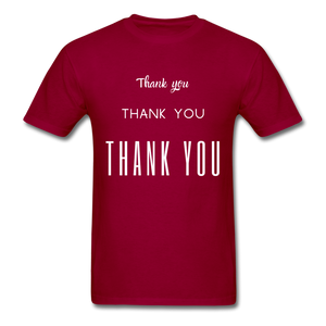 Thank you, X3 Appreciation Cotton T-Shirt - dark red