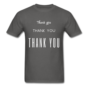 Thank you, X3 Appreciation Cotton T-Shirt - charcoal
