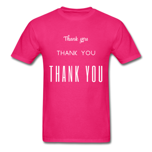 Thank you, X3 Appreciation Cotton T-Shirt - fuchsia