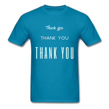 Load image into Gallery viewer, Thank you, X3 Appreciation Cotton T-Shirt - turquoise