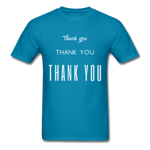 Thank you, X3 Appreciation Cotton T-Shirt - turquoise