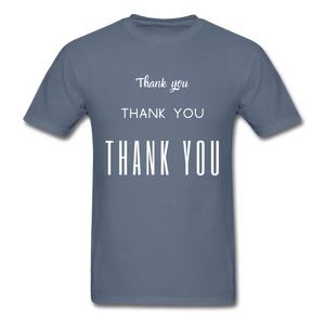 Thank you, X3 Appreciation Cotton T-Shirt - denim