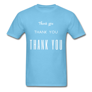 Thank you, X3 Appreciation Cotton T-Shirt - aquatic blue