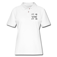 Load image into Gallery viewer, Women's Pique Polo Shirt - white