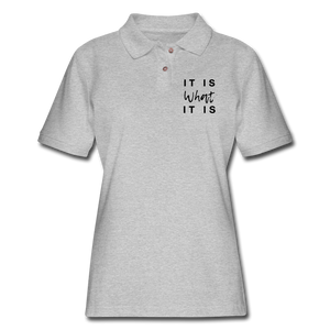 Women's Pique Polo Shirt - heather gray