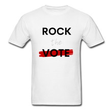 Load image into Gallery viewer, Rock the Vote White T-Shirt - white