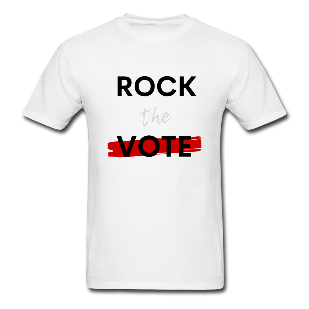 Rock the Vote White T-Shirt - white