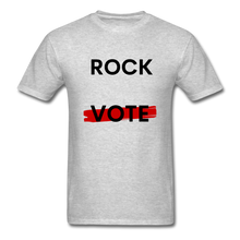 Load image into Gallery viewer, Rock the Vote White T-Shirt - heather gray