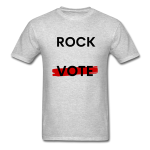 Rock the Vote White T-Shirt - heather gray