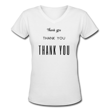 Load image into Gallery viewer, Women's V-Neck T-Shirt - white