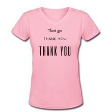 Load image into Gallery viewer, Women's V-Neck T-Shirt - pink