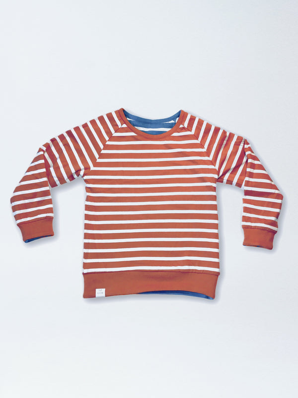 Reversible Stripe Raglan