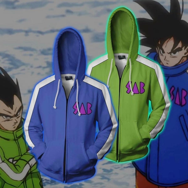 Dragon Ball Super BROLY Goku/Vegeta SAB Zip Up Hoodie Jacket