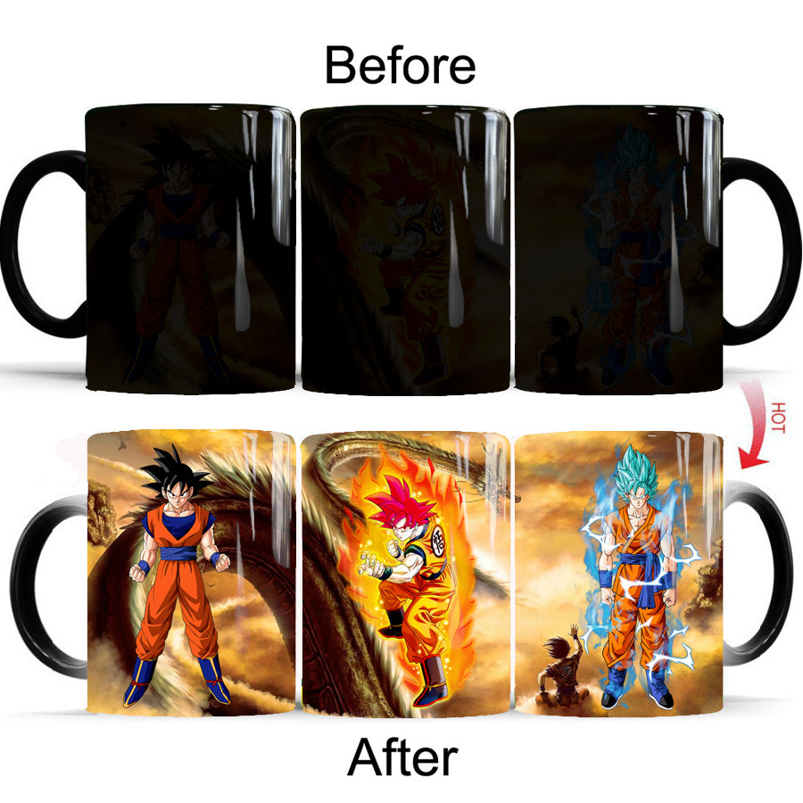 Dragon Ball Z Super Anime Goku Heat Reactive Color Design Changing Coffee Mug - theOtakuGate