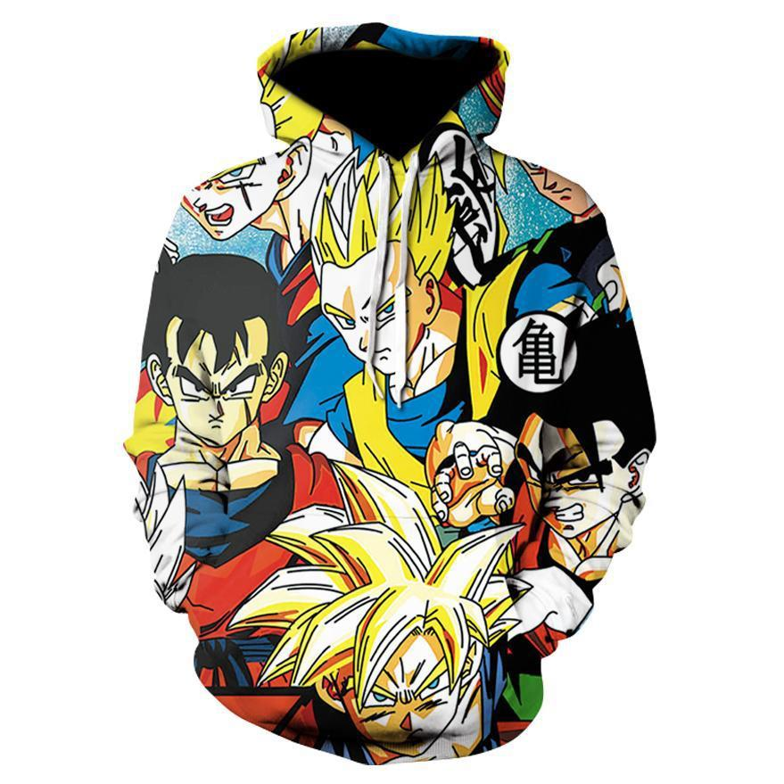 Dragon Ball Z Super Anime Gohan Super Saiyan Hoodie Sweatshirt - theOtakuGate