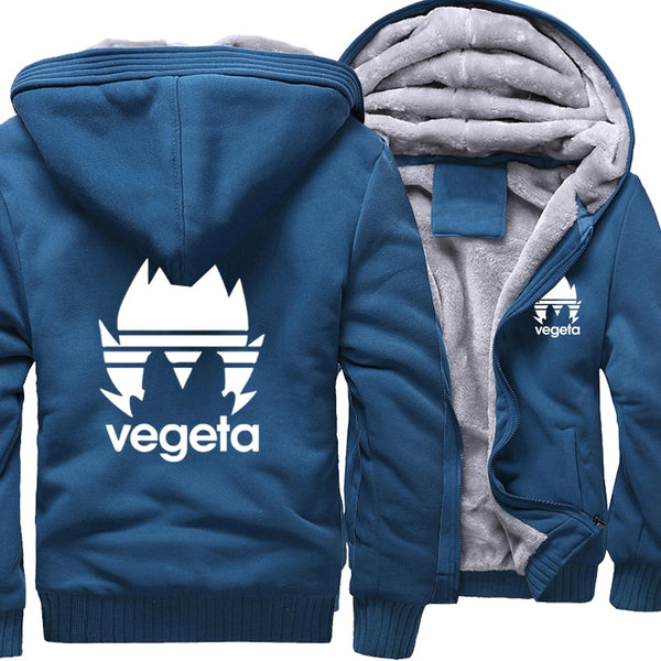 Dragon Ball Z Vegeta Adidas Themed Zip Up Hoodie Jacket