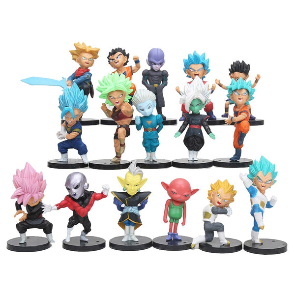 Dragon Ball Super 16 Piece Character Action Figure Model Set