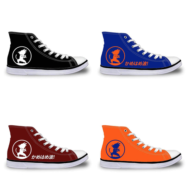 Dragon Ball Kid Goku Kamehameha High-Top Canvas Shoes - Otaku Gate Exclusive