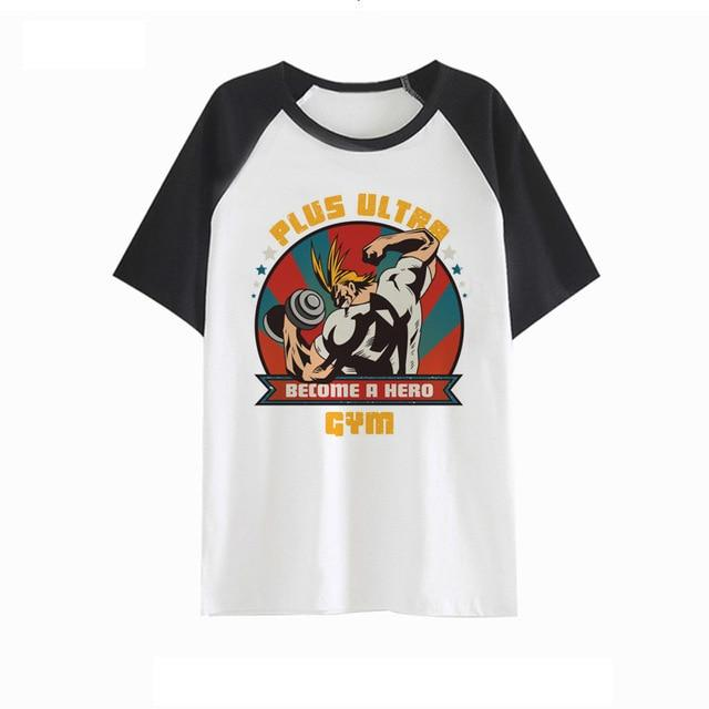 My Hero Academia Anime All Might Plus Ultra Gym T Shirt - theOtakuGate