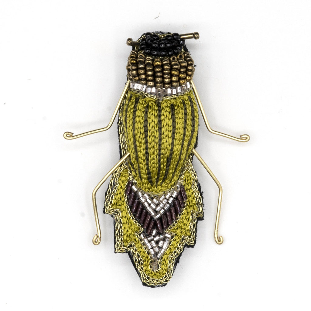 Snowtail Bug Beaded  Brooch