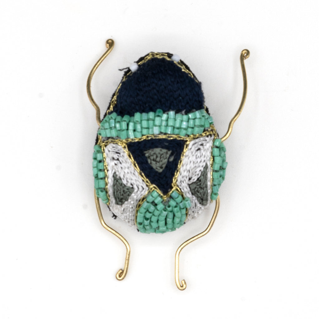 Carpet Beetle Beaded Brooch