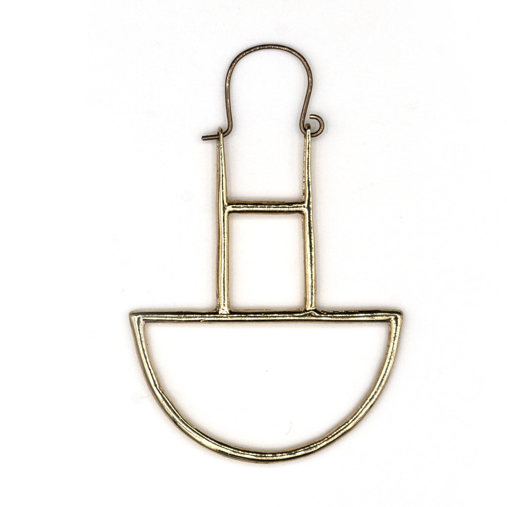 Smile Brass Earrings