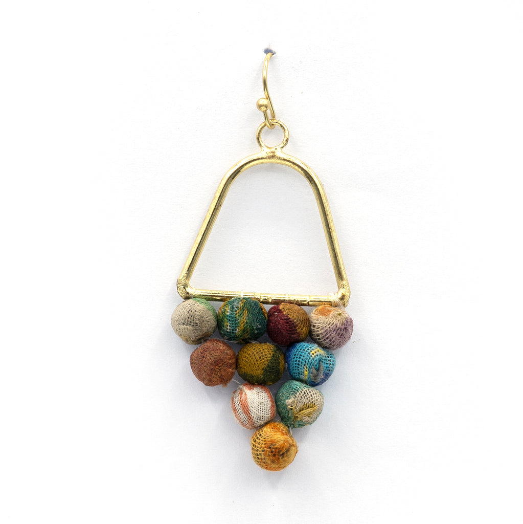 Recycled textile Earring