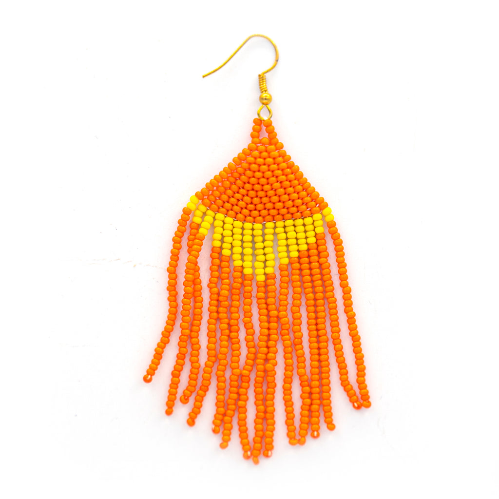 Beaded Jellyfish Earring