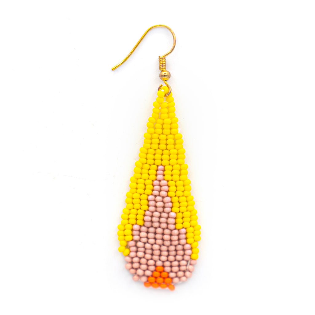 Funky Beaded Tear Earring