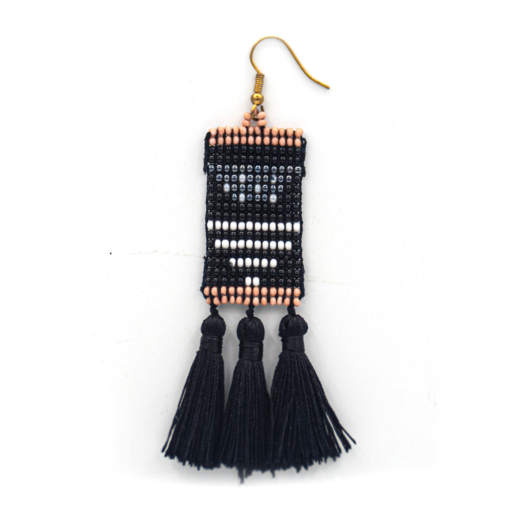 Half-moon Tassel Earrings