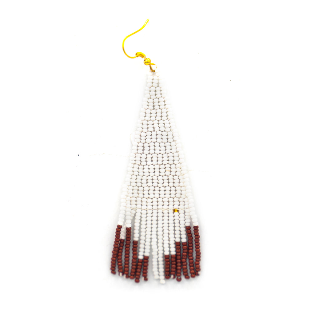 Pyramid Beaded Tassel Earring