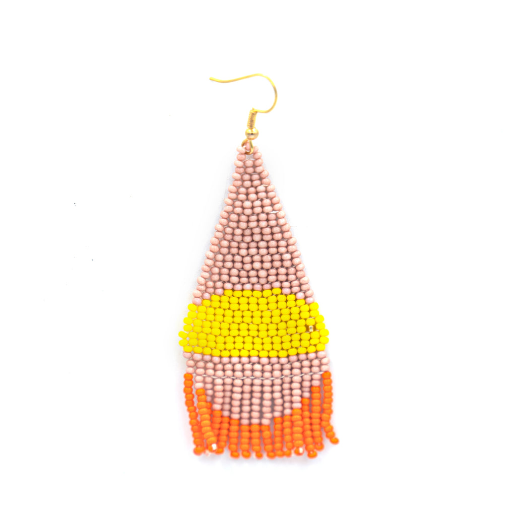 Funky Beaded Tassel Earring