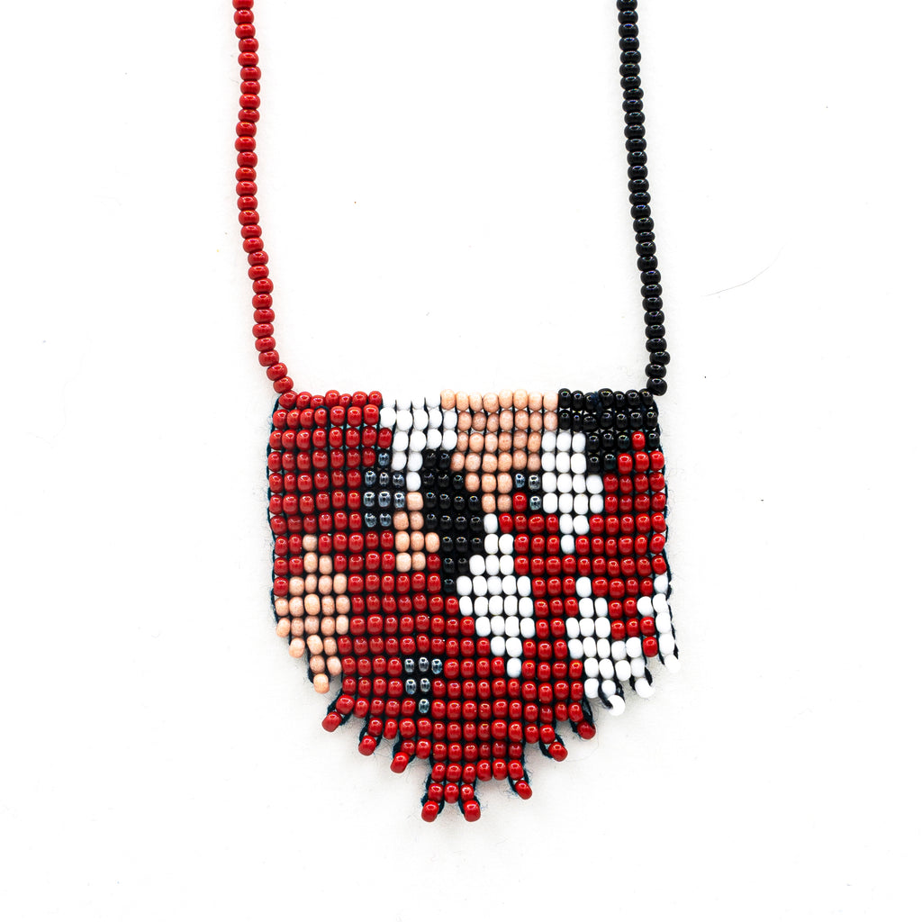 Geometric Beaded Pendant