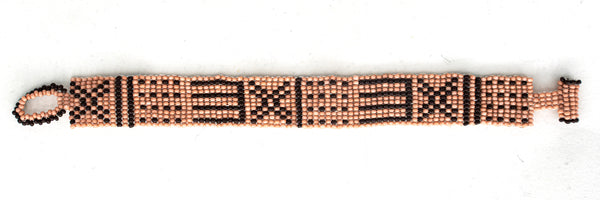 Mud-cloth beaded bracelet