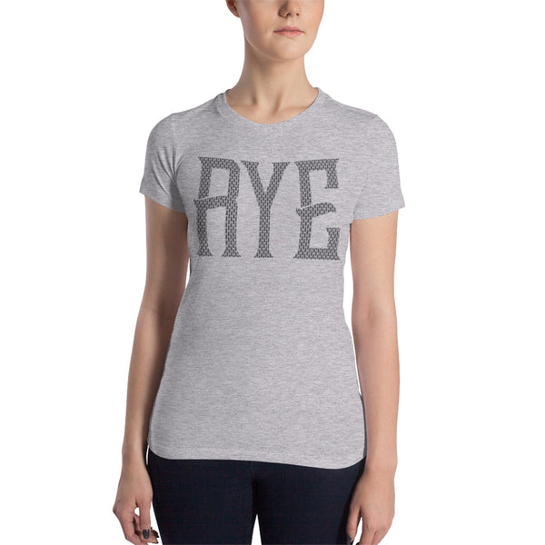 AMERICAN RYE TRADITIONS: Front and Back Design - Women's Slim Fit T-Shirt